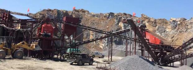 沙市码头时产300吨砂石工地