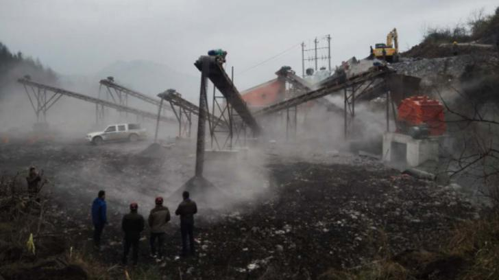 澧县时产300吨石料生产现场