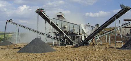 菲律宾时产300吨砂石制作现场